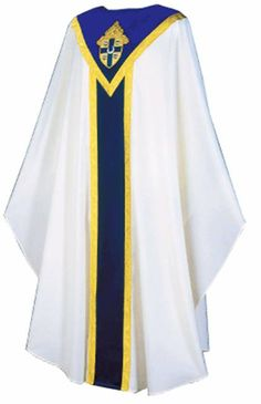 Diocesan Vestment - White Brugia Vestment by Slabbinck http://henningers.com/vestment_white_slabbinck_3388.html