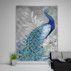Painting Peacock Tapestry Art Wall Hanging Sofa Table Bed Cover Home Decor Peacock Wall Decor, Indian Wall Decor, Wall Art Decor, Woven Wall Hanging, Hanging Art, Tapestry Wall Hanging, Wall Hangings, Mandala Tapestry, Psychedelic Tapestry