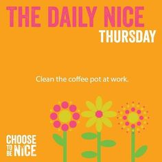It just takes a few minutes and then it's ready for the next coffee drinker. #ChooseToBeNice