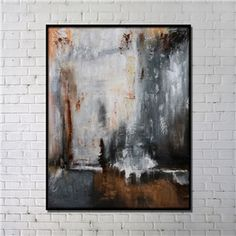Contemporary Wall Art Abstract Printing with Black Frame 36