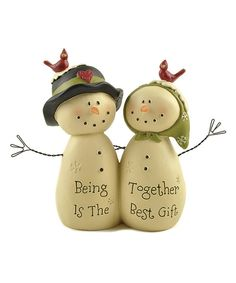 Look what I found on #zulily! 'Being Together' Snow Couple Figurine by Blossom Bucket #zulilyfinds