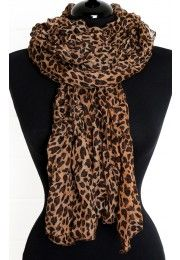 Leopard Ruched Scarf