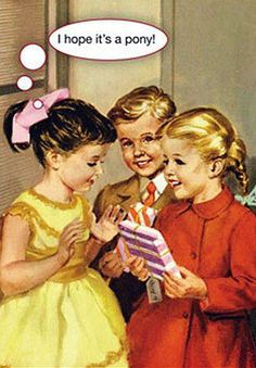 I hope it's a pony! I love these birthday cards with illustrations from the classic Ladybird books and their humour Happy Birthday Funny, Happy Birthday Quotes, Happy Birthday Images, Happy Birthday Wishes, Birthday Messages, Birthday Cards, Birthday Humorous, Happy Birthdays, Humor Birthday