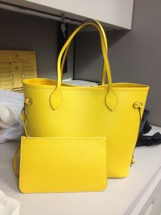 Louis Vuitton Epi Neverfull in Citron Yellow.  (by tpf magendie.  July 2013)