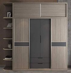 Nordic Sliding Door Moves Door Integral almirah Sliding Door Wardrobe Designs, Sliding Door Design, Wardrobe Doors, Built In Wardrobe, Sliding Doors, Bedroom Cupboard Designs, Wardrobe Design Bedroom, Bedroom Cupboards, Bedroom Furniture Design
