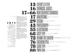 Table of Contents Design: 30 Excellent Examples from Around the Web