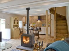 Do you need a chimney for a wood burner - Wood Burning Fireplace Inserts Double Sided Log Burner, Double Sided Fireplace, Stove Fireplace, Fireplace Design, Open Fireplace, Fireplace Wall, Open Plan Kitchen Living Room, Open Plan Living, Wood Burning Fireplace Inserts