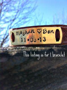 Hand stamped Brass Personalized Bracelet  by CJWOODCRAFTS on Etsy, $25.00