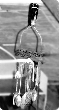Silverware Wind Chimes   silverware wind chime   Flickr - Photo Sharing!
