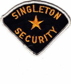 OBSOLETE - SINGLETON SECURITY SHOULDER PATCH INSIGNIA