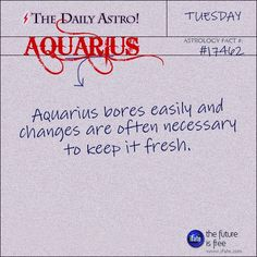 Aquarius 17462: Visit The Daily Astro for more Aquarius facts. You'll love browsing through all the super-awesome astro info and content over on iFate. Come get a free astrology chart.