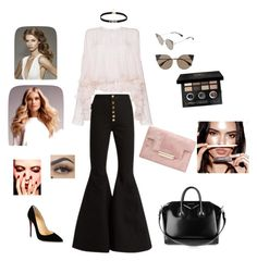 """""""Untitled #7"""" by apitchaya-gadthnaom on Polyvore featuring Philosophy di Lorenzo Serafini, E L L E R Y, Christian Louboutin, Fendi, Bobbi Brown Cosmetics, BaByliss and Givenchy"""