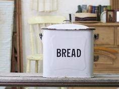 Enamel England イギリス英国アンティークホーローブレッド缶収納箱8615 インテリア 雑貨 家具 Antique ¥12800yen 〆05月18日