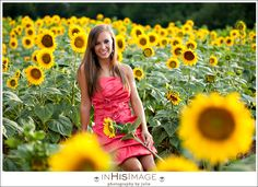 In His Image by Julie | Charlotte Wedding Photography and Family Portraiture | Ainsley's Senior Session Sunflowers, Cars and Four-Wheelers