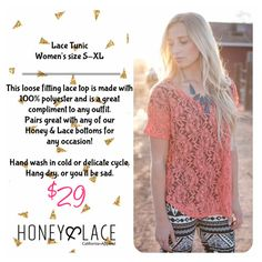 Honey and Lace Lace Tunic