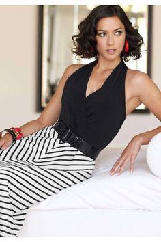 Trifecta of Perfection: two-toned, chevron, maxi dress. #chadwicks #dress #chevron