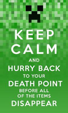 Keep Calm Minecraft by evil-santa @billy marks @Jess Seipp