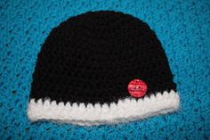 Crochet Newborn Black and White with Red by SweetBlessings28, $5.50