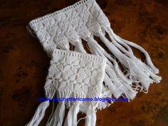 Frangia macramè per asciugamani  lavorata con cotone numero 8  lo schema di questa frangia si trova sulla rivista rakam  mensile 8 del 2009....