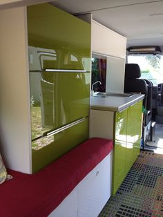 Interior cabinets in Peter's DIY Sprinter camper conversion (photo: Peter Juen)