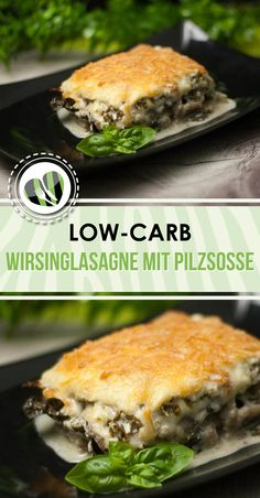 Die Wirsinglasagne mit Pilzrahmfüllung ist ein low-carb Gericht welches auch no… The Savoy cabbage with mushroom cream filling is a low-carb dish which is also delicious. Veggie Recipes, Low Carb Recipes, Diet Recipes, Healthy Dinner Recipes, Vegetarian Recipes, Healthy Eating Tips, Low Carb Diet, Slow Cooker Recipes, Stuffed Mushrooms