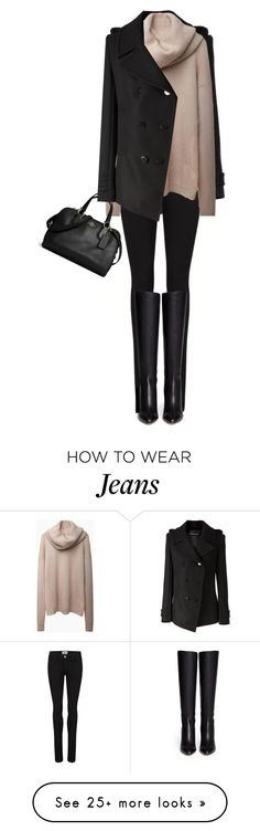 """""""Blush & Black"""" by jaycee0220 on Polyvore featuring Alexandre Vauthier, Paige Denim, Acne Studios, Coach and Jimmy Choo"""