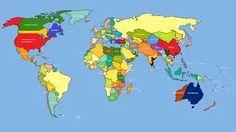 kolay dünya haritası çizimi - YouTube