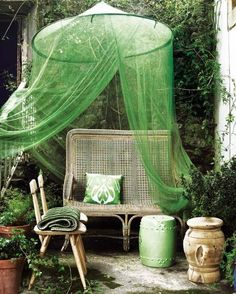 Mosquito net. hula loop + tulle? Could use this idea in a girl's bedroom as well!