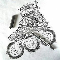 Paper, pen, talent and 3 big wheels. Great fan art by Lidia Waluś of our #Powerslide FSK Imperial #Megacruiser #triskates. Visit her FB page for more: www.facebook.com/LidiaDecorArt #welovetoskate #roller #freeskate #slalom #patinaje #2016 #patines #inline #deporte #sport #extreme #stunt #life #urbansport #sketch #art #design #pencil #drawing #love #kunst