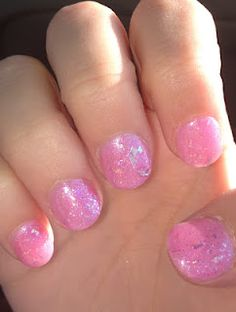 "Light pink + glitter!! OPI ""Pedal Faster Suzi!"" and ""I Lily Love You""!!! #OPI #nails #pink"