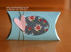 Stampin`Up!+BigZ Stanzform Pillow Box+Stanzer Herz an Herz+Prägeform+Vintage Mix