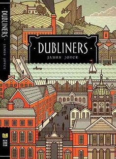 The Dubliners by James Joyce : Book Cover Illustrations by Philip Cheaney Best Book Covers, Beautiful Book Covers, Book Cover Art, Book Cover Design, Book Art, Ex Libris, Editorial Design, Books To Read, My Books