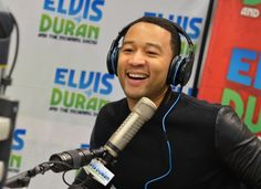"John Legend flashes a GRAMMY-winning smile during an appearance on ""Elvis Duran And The Morning Show"" on Feb. 19 in New York"