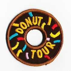 Boy Girl Cub Iron on Donut Tour Fun Patches Crests Badges Guides Scout Visit | eBay