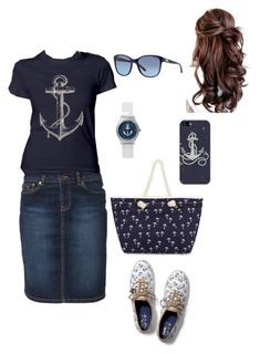 Out by Seaside⚓️ by mulan-127 on Polyvore featuring polyvore, fashion, style, McGregor, Keds, Casetify, Ralph Lauren and clothing