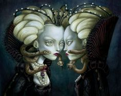 "Benjamin Lacombe - ""The Evil Queen"" - from the book ""Blanche-Neige"""
