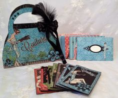 G45 Couture purse box with cards by Anne Rostad. Purse Box tutorial on my blog and here is the link, http://www.annespapercreations.com/2014/05/g45-couture-purse-box-with-cards-box.html#comment-form