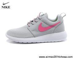 Latest Listing Cheap Womens Nike Roshe Run 511882-009 Light Gray Pink Shoes Store