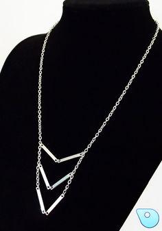 Modern necklace industrial necklace freeform by CervelleDoiseau