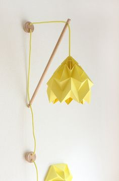 Wall fixture Klimoppe with paper lamp Moth by nellianna on Etsy, €143.00