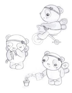 Sarah Ward Illustration - sarah ward, sarah, ward, novelty, picture book, digital, young, sweet, commercial, educational, activity, animals, pandas, bears, greetings cards