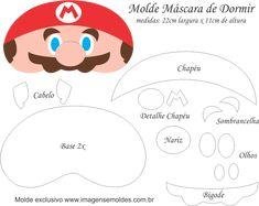 Molde Máscara de Dormir Mario Bros - Molde EVA e Feltro Super Mario Party, Super Mario Bros, Mario Crochet, Hero Crafts, Felt Mask, Mario And Luigi, Felt Patterns, Craft Activities For Kids, Craft Ideas