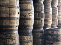 Whiskey Barrels - Reclaimed Kentucky Bourbon Whiskey Barrels - Full Size 53 Gallon Kentucky Barrels - Wooden Cask For Sale - Oak Barrels Bourbon Barrel, Bourbon Whiskey, Whiskey Barrels For Sale, Rustic Fireplace Mantle, White Oak Barrels, Jack Daniels Bottle, Buffalo Trace, Barrel Furniture, Jim Beam