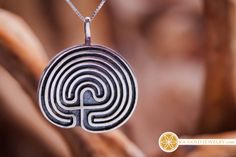 The seven fold Labyrinth - Secert path to higher dimensions  http://www.ka-gold-jewelry.com/p-products/labyrinth-silver.php  This labyrinth is an ancient symbol and can be found in many places in the world. Spiritually, this labyrinth symbols the growth and development of men. The seven stages of the labyrinth represent the stages in spiritual development