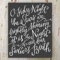 O Holy Night Canvas (This costs $200 online...I'm going to attempt to make this myself though. I already have the canvas and paint in storage just waiting to be used. It's about time I have a project that will be free to make!)