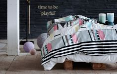geometrical bed cover from Juna.dk
