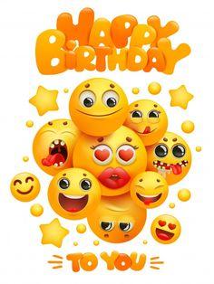 Happy Birthday Emoji, Happy Birthday Greetings Friends, Happy Birthday Wishes Photos, Happy Birthday Celebration, Happy Birthday Flower, Happy Birthday Candles, Happy Birthday Greeting Card, Happy Birthday Messages, Birthday Pictures