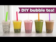 DIY Boba & Bubble Tea! Healthy Recipes - Mind Over Munch - YouTube