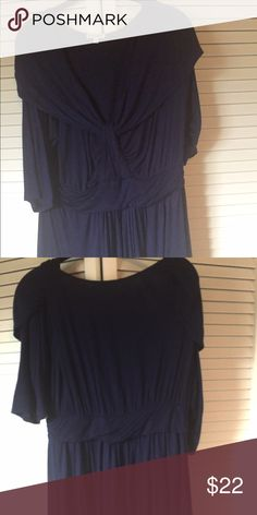 Kiyonna Size 1X (14-16) Royal Blue Sailor Top Worn just a few times, EUC Kiyonna Size 1X (14-16) super soft and flowy Sailor top.  This looks very flattering on! Kiyonna Tops
