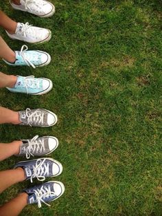 Cute shoes and this would be a fun picture to take with friends who all have converse.